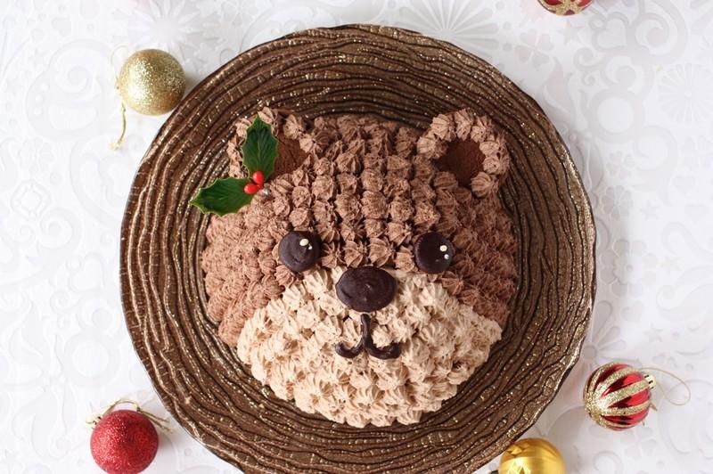 みんなが大好きなチョコレートケーキをクマちゃんで作ろう